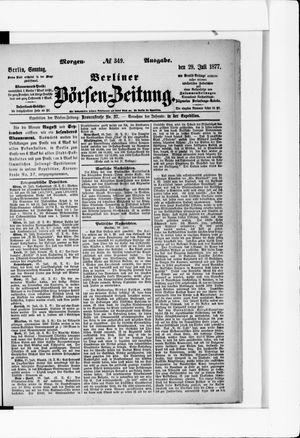 Berliner Börsen-Zeitung vom 29.07.1877
