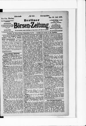 Berliner Börsen-Zeitung vom 30.07.1877