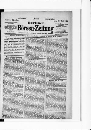 Berliner Börsen-Zeitung vom 31.07.1877