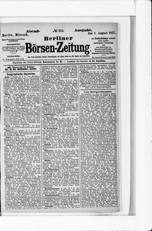 Berliner Börsen-Zeitung vom 01.08.1877