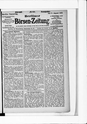 Berliner Börsen-Zeitung vom 02.08.1877