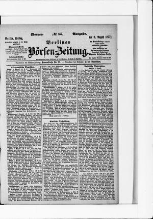 Berliner Börsen-Zeitung vom 03.08.1877