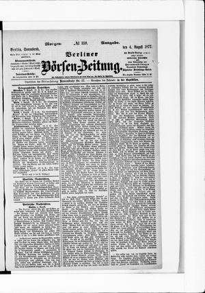 Berliner Börsen-Zeitung on Aug 4, 1877