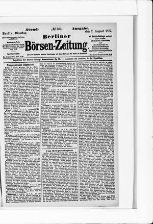 Berliner Börsen-Zeitung vom 07.08.1877
