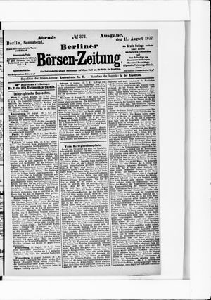 Berliner Börsen-Zeitung vom 11.08.1877