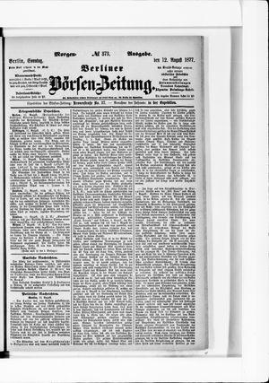 Berliner Börsen-Zeitung vom 12.08.1877
