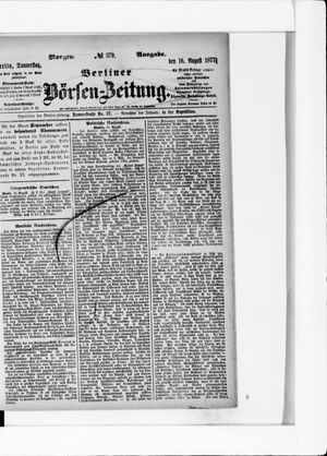 Berliner Börsen-Zeitung vom 16.08.1877