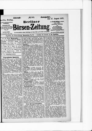 Berliner Börsen-Zeitung vom 17.08.1877