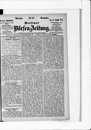 Berliner Börsen-Zeitung vom 18.08.1877
