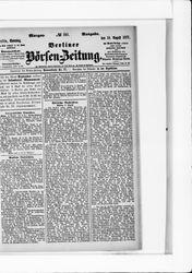 Berliner Börsenzeitung (19.08.1877)