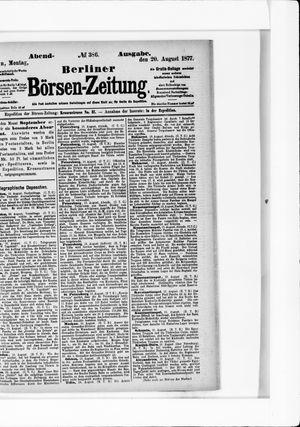 Berliner Börsen-Zeitung vom 20.08.1877