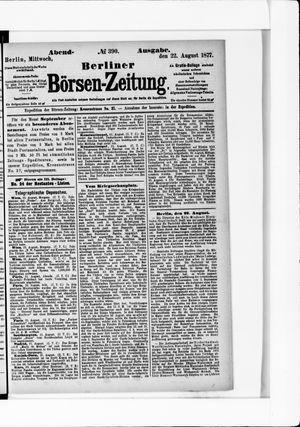 Berliner Börsen-Zeitung vom 22.08.1877