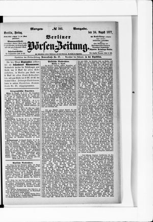 Berliner Börsen-Zeitung vom 24.08.1877