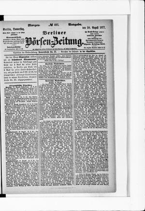 Berliner Börsen-Zeitung vom 30.08.1877