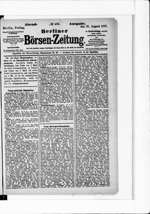 Berliner Börsen-Zeitung vom 31.08.1877