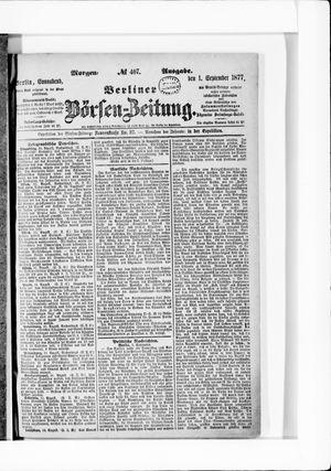 Berliner Börsen-Zeitung vom 01.09.1877