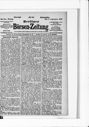 Berliner Börsen-Zeitung vom 03.09.1877