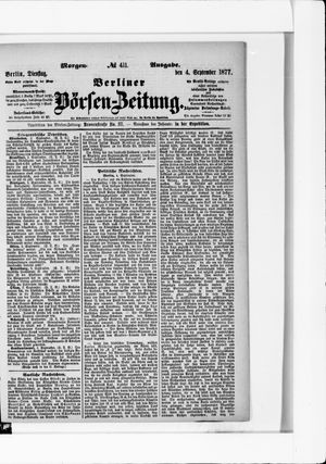 Berliner Börsen-Zeitung vom 04.09.1877