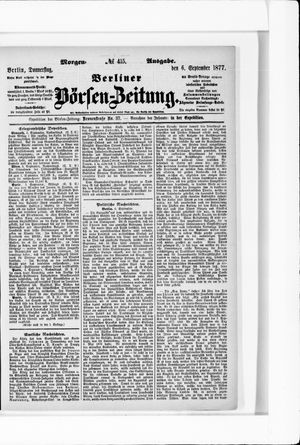 Berliner Börsen-Zeitung vom 06.09.1877