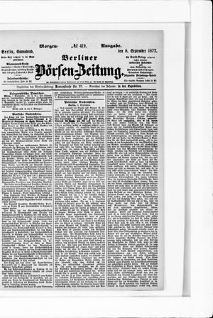 Berliner Börsen-Zeitung vom 08.09.1877