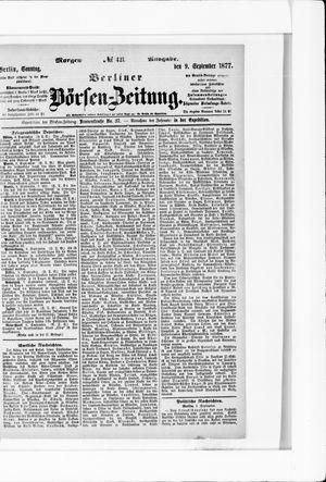 Berliner Börsen-Zeitung vom 09.09.1877