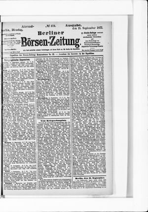 Berliner Börsen-Zeitung vom 11.09.1877