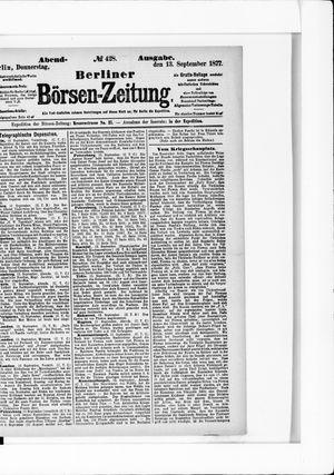 Berliner Börsen-Zeitung vom 13.09.1877