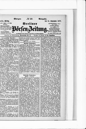 Berliner Börsen-Zeitung vom 14.09.1877