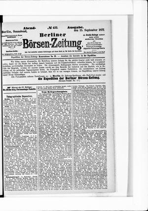 Berliner Börsen-Zeitung vom 15.09.1877