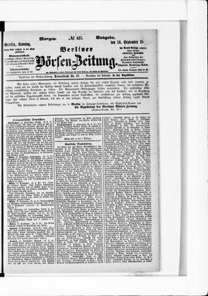 Berliner Börsen-Zeitung vom 16.09.1877