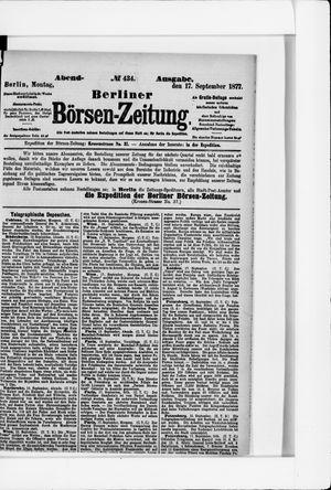 Berliner Börsen-Zeitung vom 17.09.1877