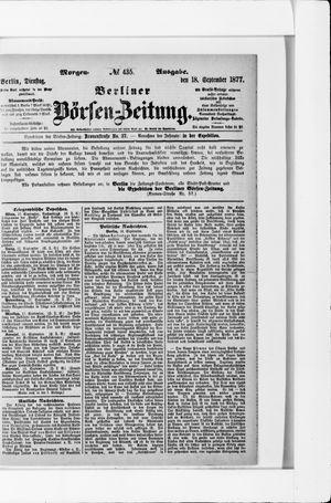 Berliner Börsen-Zeitung vom 18.09.1877