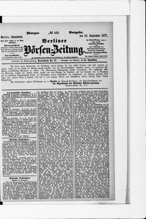Berliner Börsen-Zeitung vom 22.09.1877