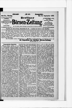 Berliner Börsen-Zeitung on Sep 24, 1877