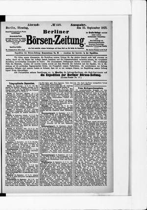 Berliner Börsen-Zeitung vom 25.09.1877