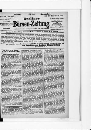 Berliner Börsen-Zeitung vom 26.09.1877