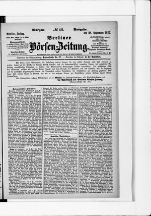 Berliner Börsen-Zeitung vom 28.09.1877