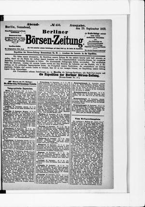 Berliner Börsen-Zeitung vom 29.09.1877