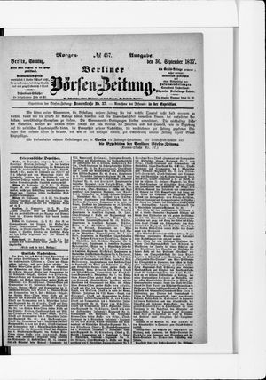 Berliner Börsen-Zeitung vom 30.09.1877