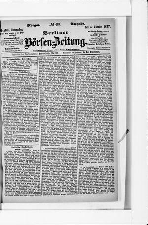 Berliner Börsen-Zeitung vom 04.10.1877