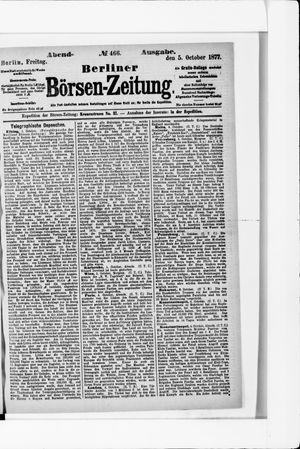 Berliner Börsen-Zeitung vom 05.10.1877