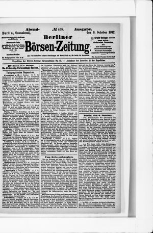 Berliner Börsen-Zeitung vom 06.10.1877