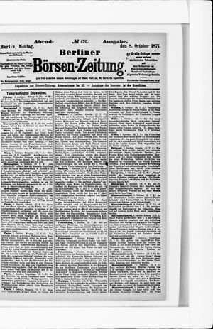 Berliner Börsen-Zeitung vom 08.10.1877