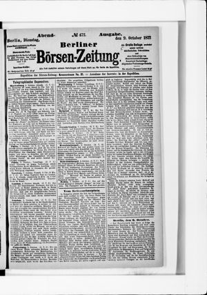Berliner Börsen-Zeitung vom 09.10.1877