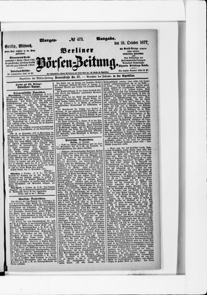 Berliner Börsen-Zeitung vom 10.10.1877