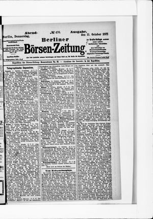 Berliner Börsen-Zeitung vom 11.10.1877