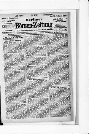 Berliner Börsen-Zeitung vom 13.10.1877