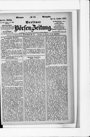 Berliner Börsen-Zeitung vom 14.10.1877