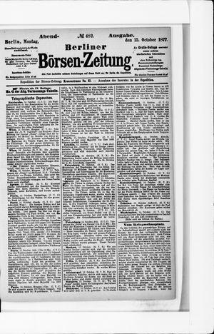 Berliner Börsen-Zeitung vom 15.10.1877