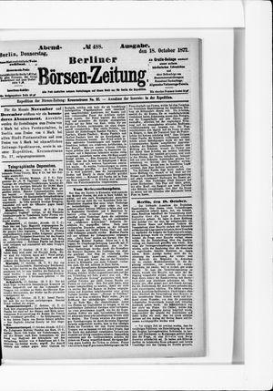 Berliner Börsen-Zeitung vom 18.10.1877
